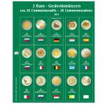 SAFE 7341-7 Premium Münzblätter Ergänzungsblätter Münzhüllen 7393 mit Vordruckblättern 2 Euro Münzen Gedenkmünzen 2011