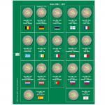 SAFE 7341-8 Premium Münzblätter Ergänzungsblätter Münzhüllen 7393 mit Vordruckblättern 2 Euro Münzen Gedenkmünzen 2012