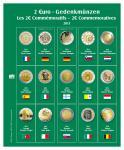 SAFE 7341-10 Premium Münzblätter Ergänzungsblätter Münzhüllen 7393 mit Vordruckblättern 2 Euro Münzen Gedenkmünzen 2013
