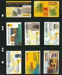 10 LINDNER MU1353 Schwarze Multi Collect Einsteckblätter 8 Felder MIxed Telefonkarten & Markenheftchen