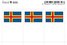 6 x LINDNER 666 Aland Flaggensticker Flaggen Signetten Sets zum aufkleben oder einstecken