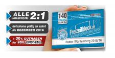 Freizeitblock Baden-Württemberg 2015-2016 Gutscheinbuch FREIZEIT GUTSCHEINE RABATTE PORTOFREI IN DEUTSCHLAND