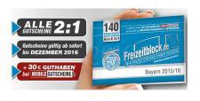 Freizeitblock Bayern 2015-2016 Gutscheinbuch FREIZEIT GUTSCHEINE RABATTE PORTOFREI IN DEUTSCHLAND
