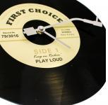 """SAFE 73501 Wanduhr Schallplatten Vynil Glas Schallplattenuhr Uhr """" First Choice """" Single LP Retro Vintage Look diese Scheibe ist ein Hit"""
