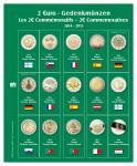 SAFE 7341-13 Premium Münzblätter Ergänzungsblätter Münzhüllen 7393 mit Vordruckblättern 2 Euro Münzen Gedenkmünzen 2014 - 2015