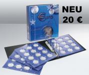 SAFE 7312 TOPset Münzalbum Ringbinder 20 EUROMÜNZEN mit 2 Blättern 7848 + farbigen Vordruckblättern ab 2016