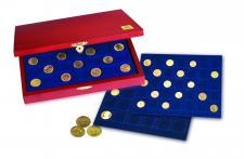SAFE 5883 Elegance Münzkassetten mit 3 Tableaus MIXED 79 x Fächer für Münzen 27 - 41 mm