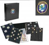 SAFE 7357 PREMIUM MÜNZALBUM SCHWEDEN - SWEDEN - SVERIGE UNIVERSAL mit 4 Münzblättern für 134 Münzen