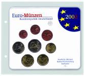 5 x SAFE 7385 Coin Compact Ergänzungsblätter Münzhüllen Hüllen 1 Fach 145 x 140 mm für rechteckige Münzensets zb. Euro ST Stempelglanz