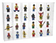 SAFE 5259 ACRYL Sammelvitrinen Kleinvitrinen Setzkasten 24 Fächern 56 mm Höhe Ideal für LEGO Minifiguren Star Wars - Hobbit - Classic - Princess - Piraten - Speed usw.