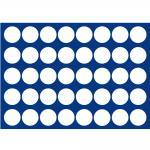 1 x SAFE 5868-1 Blaue Schubladen 40 Münzen bis 26 mm für die Kassetten 6590 & 6591 Ideal für 2 Euro Münzen & Münzkapseln bis 20 mm