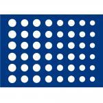 1 x SAFE 5862-1 Blaue Schubladen 48 Münzen Euro KMS für die Kassetten 6590 & 6591 Ideal für 10 komplette Euro Kursmünzensätze von 1 Cent - 2 Euromünzen in Münzkapseln