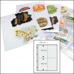 50 x SAFE 5473 Standard A4 rechteckige Bierdeckel Ergänzungsblätter Hüllen 4er Teilung 100 x 150 mm