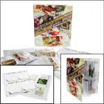 SAFE 7930 Kochrezepte Album Sammelalbum Ringbinder mit 10 Rezeptkarton Blättern 15 Folienblättern für 150 Rezepte