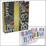 SAFE 7929 Stiftealbum Sammelalbum A4 mit 4 transparenten Blättern für 64 Stifte Kugelschreiber Füller