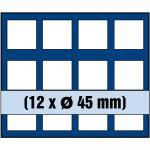 1 x SAFE 6345 SP Tableaus Einsätze SMART 12 eckigen Fächern 45 mm 50 Französiche Franc & Kanada Maple Leaf Dollar in Münzkapseln