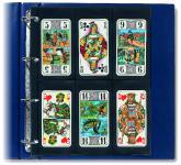 10 x SAFE 477 Compact A4 Einsteckblätter Hüllen Spezialblätter Schwarz 70x145 mm Für 12 Spielkarten