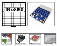 SAFE 6609-1 BEBA MÜNZBOXEN 81 quadratische Fächer 29, 6 mm + rote Filzeinlagen Für 5 DM - 5 Euro Blauer Planet Erde / Klimazonen