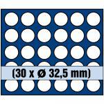 1 x SAFE 6332 SP Tableaus / Einsätze SMART mit 30 runden Fächern 32, 5 mm ideal für 10 Euro / DM / Mark der DDR