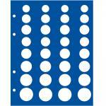 5 x SAFE 7829 TOPset Münzblätter Ergänzungsblätter Münzhüllen für 4x Euromünzen KMS Kursmünzensätze in Münzkapseln