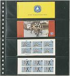 1 x LINDNER 824 Klarsichthüllen Schwarz mit 4 Taschen 242 x 65 mm Für Banknoten Briefmarken Markenheftchen