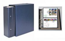 SAFE 7898 Standard Compact Briefealbum Ringbinder Album Blau mit 20 Blättern 7878 erweiterbar bis 220 FDC Briefe