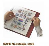 SAFE 1803 dual Nachträge - Nachtrag / Vordrucke Deutschland Jahresschmuckblätter - 2003