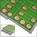 SAFE 6136 BEBA Filzeinlagen Grün für Schubladen Schuber 6106 Münzboxen 6606 Maxi Münzkasten