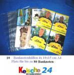 10 Banknotenhüllen A4 Kelsche für je 8 Gelscheine N