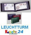 LEUCHTTURM Ansichtskarten Banknoten FDC Postkarten Album CLFDC4 extra lang Königsblau / Blau 326463
