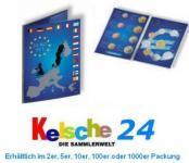 1 x LEUCHTTURM 315678 Sammelkarten EURO Folder für 1x kompletten Kursmünzensatz KMS 1 cent - 2 Euro