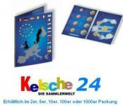 10 x LEUCHTTURM 315678 Sammelkarten EURO Folder für 1x kompletten Kursmünzensatz KMS 1 cent - 2 Euro