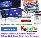 LEUCHTTURM Münzkoffer K03 8 Tableaus FREIE Auswahl