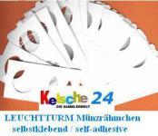 25 Leuchtturm Münzrähmchen selbstklebend Sortiment für Euromünzen 309760