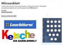 LEUCHTTURM 303296 Vista 2 Euro Münzblatt RÖMISCHE Vertäge