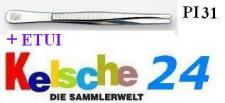 LEUCHTTURM Pinzetten 12 cm + Etui - Gerade Schmal P