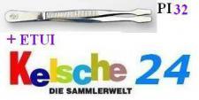 LEUCHTTURM Pinzetten 12 cm + Etui Gerade Schaufel
