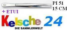 LEUCHTTURM Pinzetten 15 cm + Etui Gerade Schmal PI