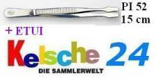LEUCHTTURM Pinzetten 15 cm + Etui Gerade Schaufel