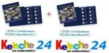 LEUCHTTURM 341450 NUMIS 2 EURO Gedenkmünzen SET Band 1 + 2 + 3 bis 2013