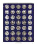 Lindner 2111M Münzbox Münzboxen Marine Blau für 35 x 32, 5 mm Ø 10 Euromünzen 10 DM 200 Euro Gold