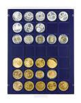 Lindner 2135M Münzbox Münzboxen Marine Blau 35 x 36 mm Münzen quadratische Vertiefungen 5 Reichsmark