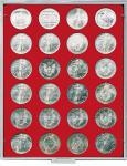 LINDNER 2160 MÜNZBOXEN Münzbox Standard für 24 Münzen 41 mm Ø 1 Dollar US Eagle 50 FF