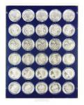 LINDNER 2226M MÜNZBOXEN Münzbox Marine Blau 30x 39 mm 10 & 20 EURO 10 DM Münzen in Münzkapseln