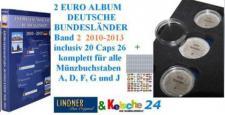 LINDNER 2 EURO MÜNZALBUM S1012 DT. LÄNDER 2010-13 B
