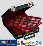 LINDNER Münz Koffer mit 10 Tableaus für 456 Münzen