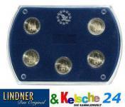 LINDNER Münz-Etui 5 St. 2 Euromünzen Gedenkmünzen 8