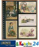 LINDNER 10 Postkartenblätter für 10 alte Postkarten