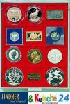 LINDNER Münzbox Münzboxen 12 x 68 mm Münzen gr. Münzrähmchen 67x 67 Inletts Münzkapseln Rauchglas 2712