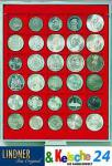 LINDNER Münzbox Münzboxen 30 x 38mm Münzen quadratische Vertiefungen 5 Mark Kaiserreich 1 Unze Meaple Leaf Silber Rauchglas 2715